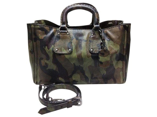 Prada Camouflage Safiano Leather