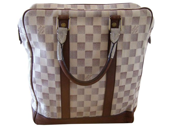 Louis Vuitton louis vuitton checkered moon Bags Briefcases Leather White ref.130641