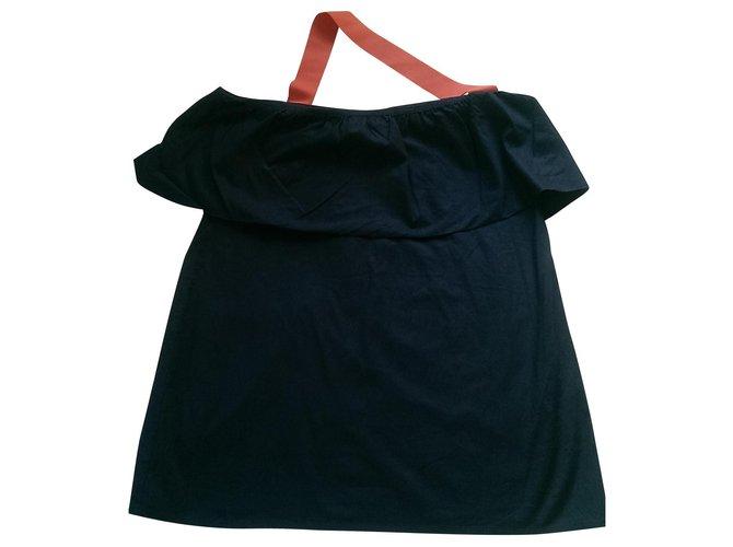 Chloé Tops Tops Cotton,Elastane Blue ref.130699