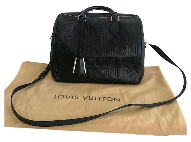 Louis Vuitton Speedy 30 Handbags Lambskin Black ref.130709