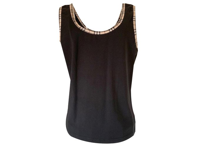 Burberry Tank top Tops Cotton Black ref.130738