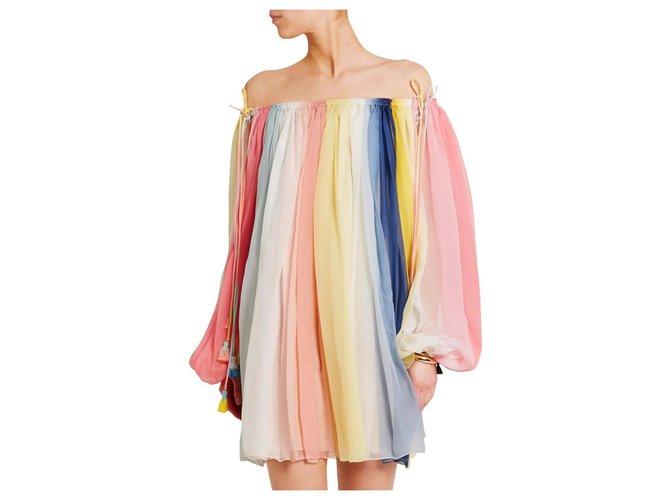 Chloé MINI SILK DRESS Dresses Silk Multiple colors ref.130747