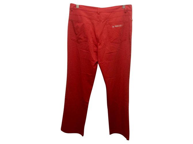 Burberry Burberry London Jeans Jeans Cotton,Elastane Red ref.130802
