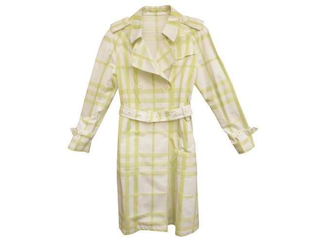 Burberry Burberry London summer trench Coats, Outerwear Cotton Light green ref.130874
