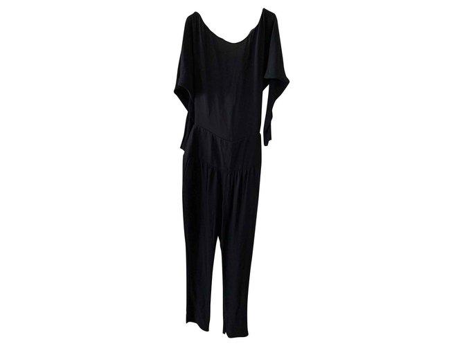 Chloé Chloé black jumpsuit Jumpsuits Silk Black ref.130947