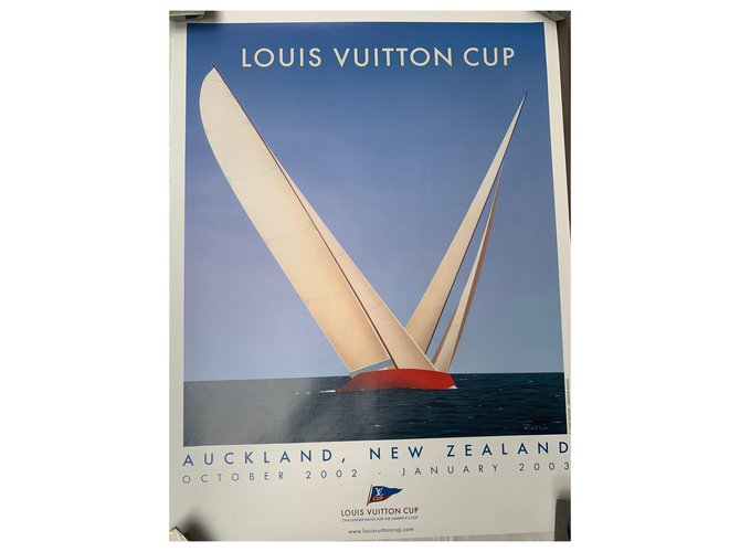 Décoration divers Louis Vuitton Poster Louis Vuitton CUP Autre Bleu clair ref.130985