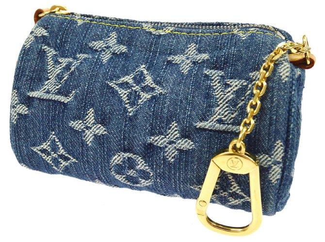 Bijoux de sac Louis Vuitton bijoux de sac en jeans Toile Bleu ref.131062