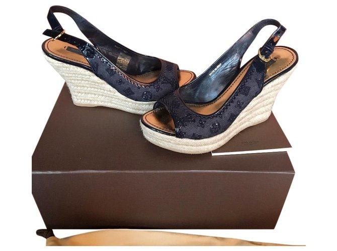 Louis Vuitton Sandals Sandals Other Dark blue ref.131197