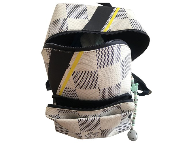 Louis Vuitton Louis Vuitton backpacks apollo america cup 2017 Bags Briefcases Leather White ref.131292