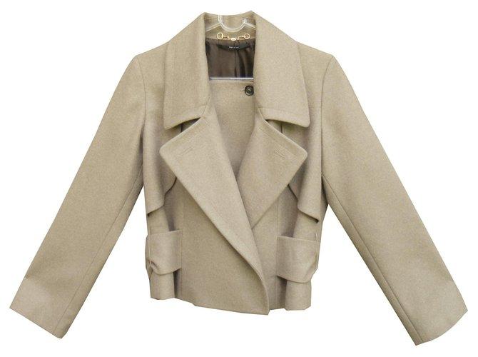 Vestes Gucci veste Gucci en laine, cachemire, angora Cachemire,Laine,Angora Marron clair ref.131322
