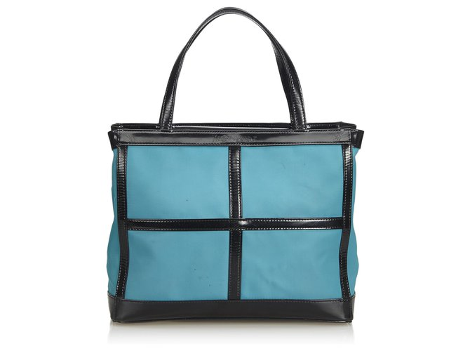 2ff875db9 Yves Saint Laurent YSL Blue Nylon Tote Bag Totes Leather,Other,Nylon,Cloth