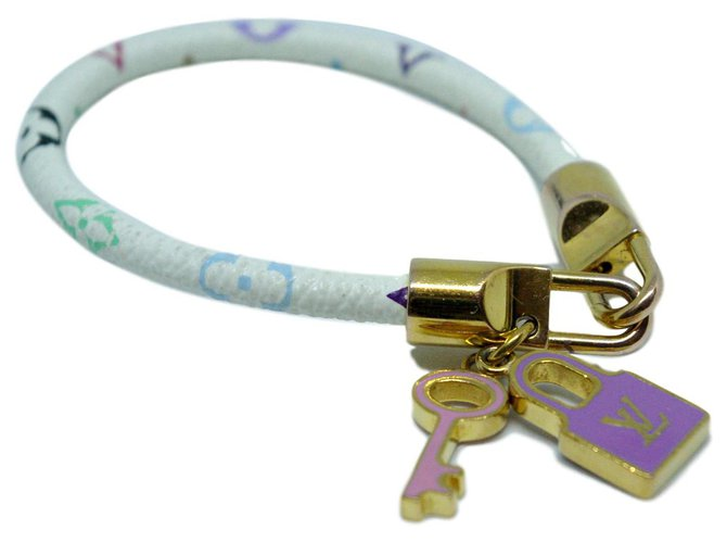 Bracelets Louis Vuitton LOCK IT MULTICOLORE Toile,Métal Multicolore ref.131525