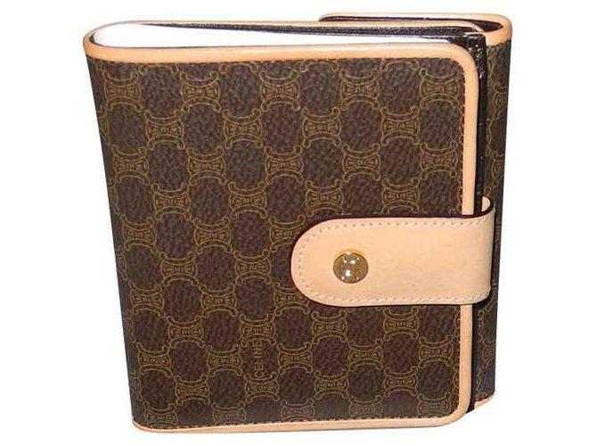 Céline Purses, wallets, cases Purses, wallets, cases Leather,Cloth Brown,Beige ref.131697