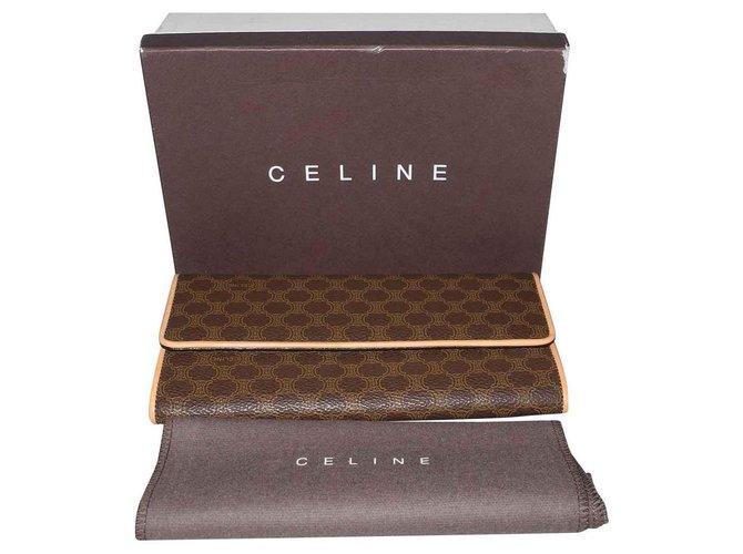 Céline Purses, wallets, cases Purses, wallets, cases Leather,Cloth Brown ref.131700