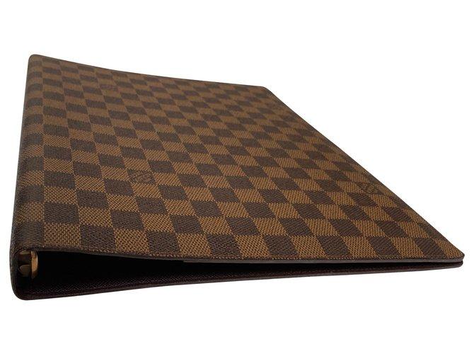 Louis Vuitton Louis Vuitton document cover Misc Cloth Ebony ref.131921