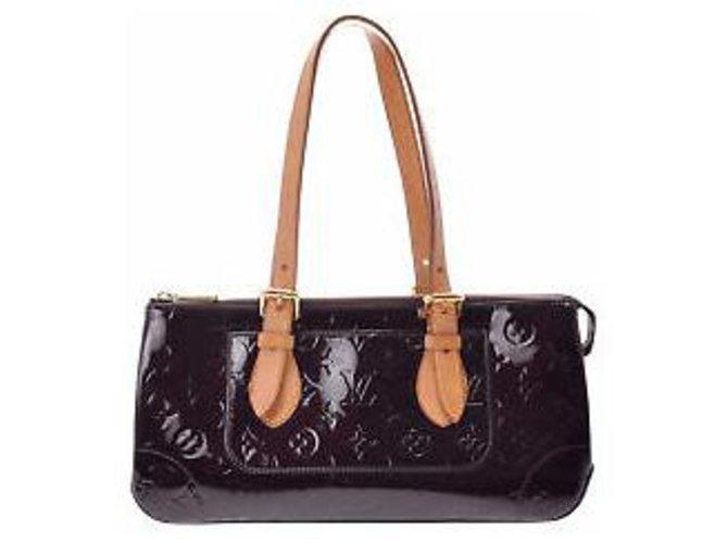 Sacs à main Louis Vuitton Louis Vuitton Rosewood Avenue Cuir vernis Noir ref.132100