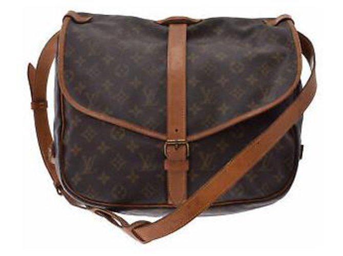 Sacs à main Louis Vuitton Louis Vuitton Saumur 35 Toile Autre ref.132132