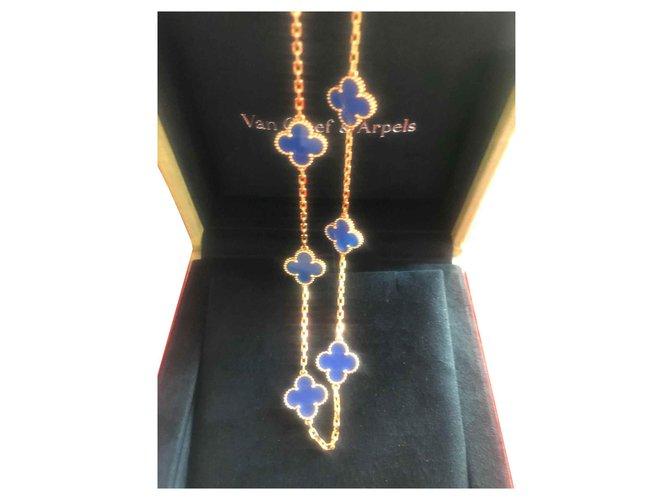Colliers Van Cleef & Arpels Alhambra Or jaune Bleu ref.132292