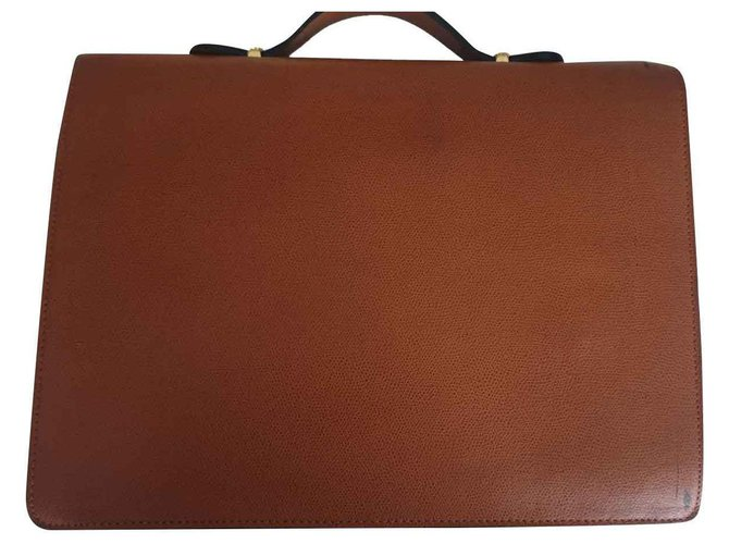 Lancel Bags Briefcases Bags Briefcases Leather Light brown ref.132371