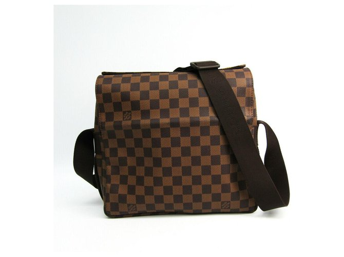 Louis Vuitton LV Naviglio Bags Briefcases Leather Brown ref.132376