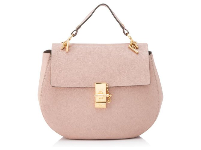 Chloé Chloe Pink Large Lambskin Leather Drew Handbags Leather Pink,Other ref.132488