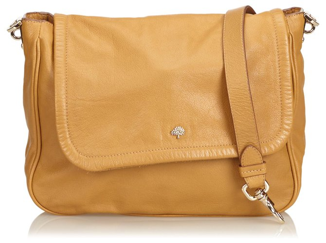 Mulberry Mulberry Brown Leather Crossbody Bag Handbags Leather,Other Brown,Light brown ref.132512