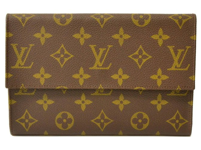 Louis Vuitton Louis Vuitton wallet Wallets Small accessories Leather Brown ref.132580
