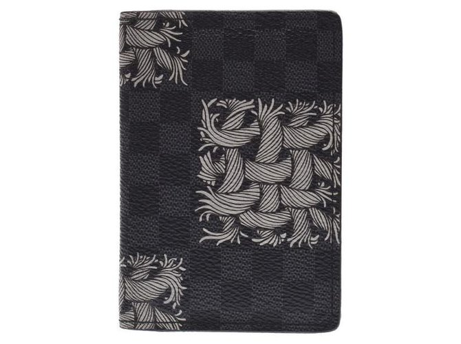 Louis Vuitton Louis Vuitton card case Wallets Small accessories Plastic Black ref.132852