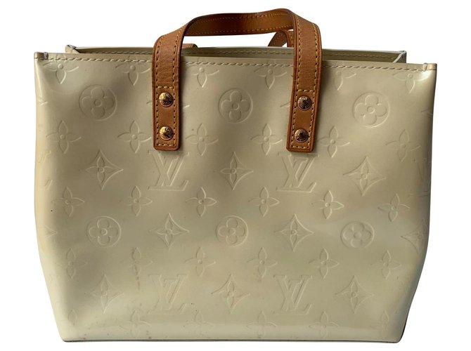 Louis Vuitton Reade cabas PM Handbags Patent leather Beige ref.179505