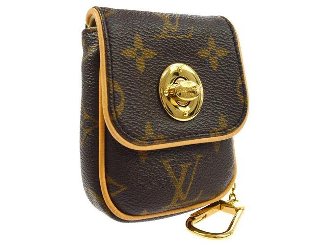 Bijoux de sac Louis Vuitton louis vuitton Tulum key chain Cuir Marron ref.133181