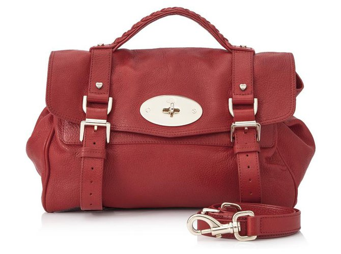 Mulberry Mulberry Red Leather Alexa Satchel Handbags Leather,Other Red ref.133256