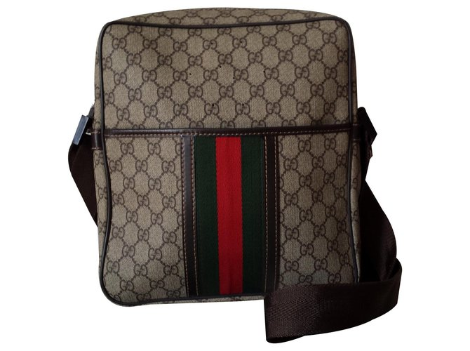 Gucci XL bag Bags Briefcases Cloth Beige ref.133274