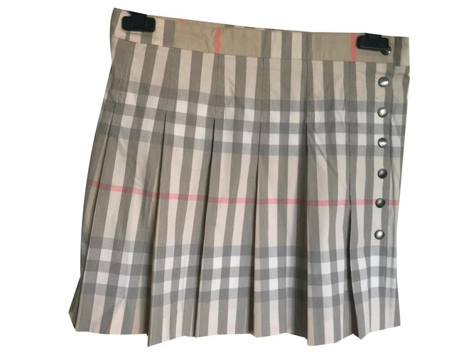 Burberry Skirts Skirts Cotton Beige ref.133380