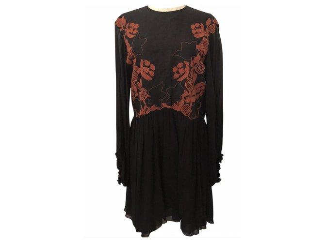 Chloé Chloe Dress Dresses Silk Black ref.133426