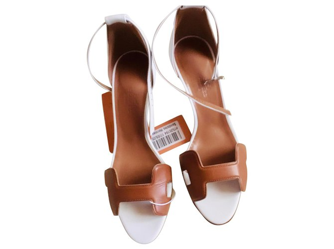 Hermès first Sandals Leather Caramel ref.133438