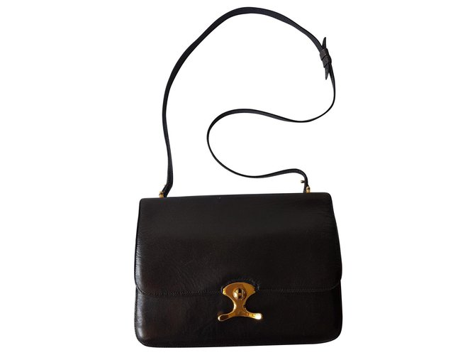 Hermès Handbags Handbags Leather Black,Golden ref.133439
