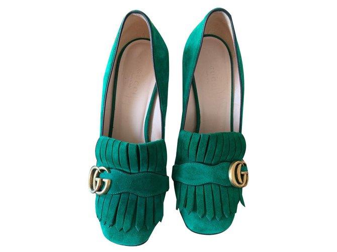 Gucci Pumps green Gucci marmont Heels