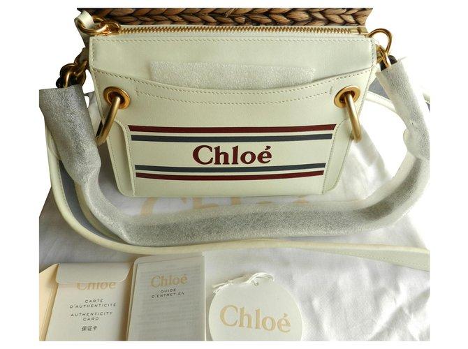 Chloé Roy Handbags Leather Eggshell ref.133780