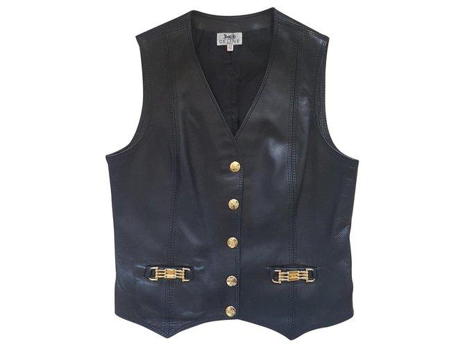 Céline Jackets Jackets Leather Black ref.134057