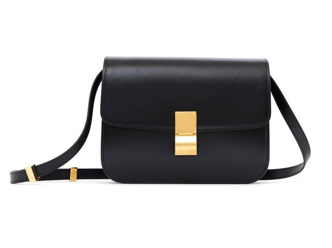 Céline CLASSIC BOX BLACK NEW Handbags Leather Black ref.134238