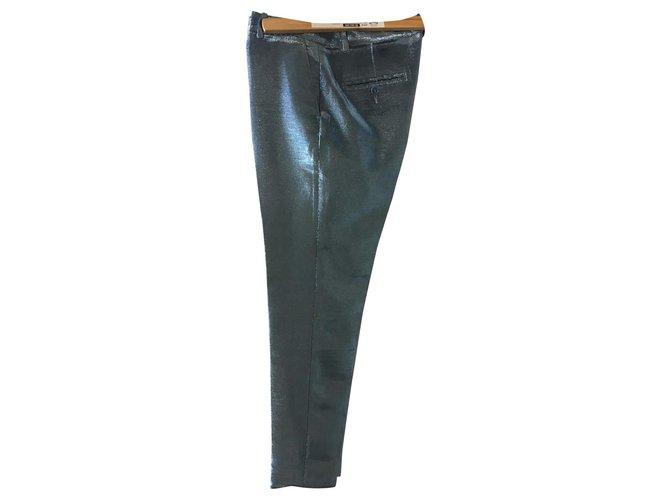 Indress lamé model Light blue Cotton Polyester  ref.134358