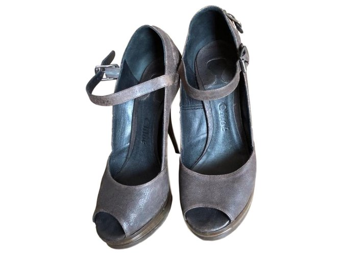 Chloé Chloé pumps Heels Leather Dark brown ref.134606