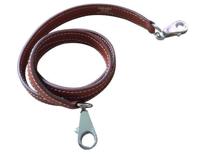 Hermès Kelly Handbags Leather Cognac ref.134648