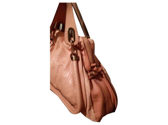 Chloé Handbags Handbags Python Peach ref.134758
