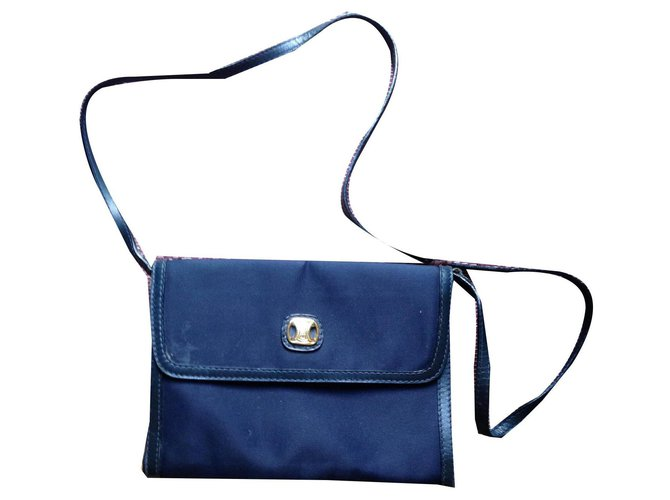 Céline Celine clutch Clutch bags Cloth Blue ref.134782