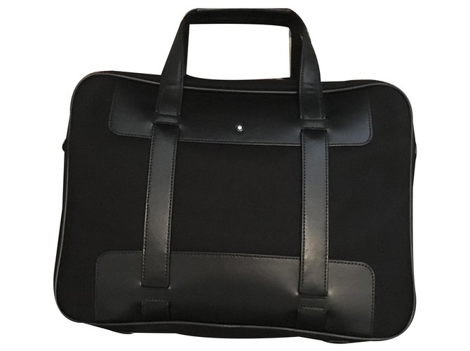 Montblanc Bags Briefcases Bags Briefcases Leather Black ref.134783