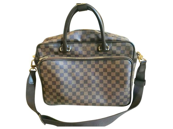 Louis Vuitton louis vuitton icare Bags Briefcases Leather Brown ref.135214