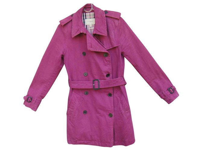 Burberry Burberry short raspberry color short Trench coats Cotton Red ref.135275