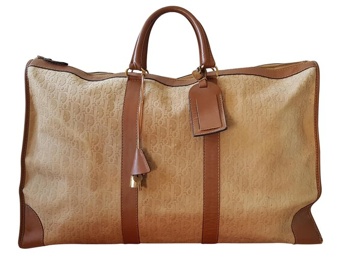 Christian Dior Bags Briefcases Bags Briefcases Suede,Leather Beige ref.135393