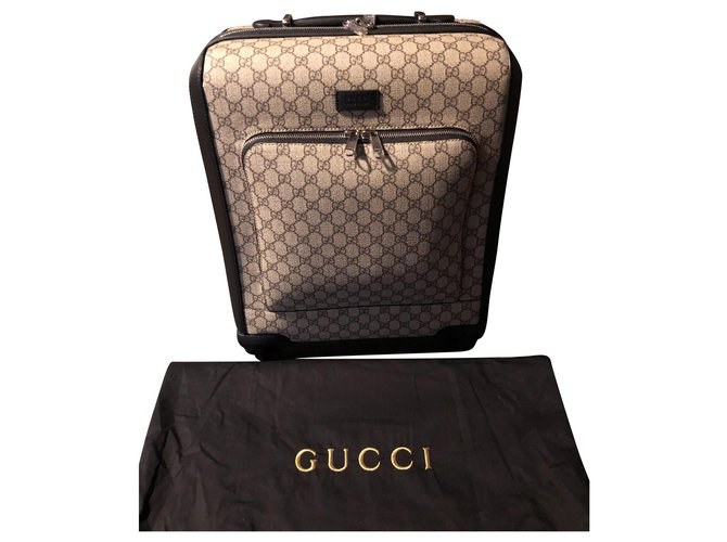 Gucci 451003 K5NMR 9769 Bags Briefcases Leather,Cloth Beige ref.135423